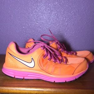 Neon Orange Nike Tennis Shoes